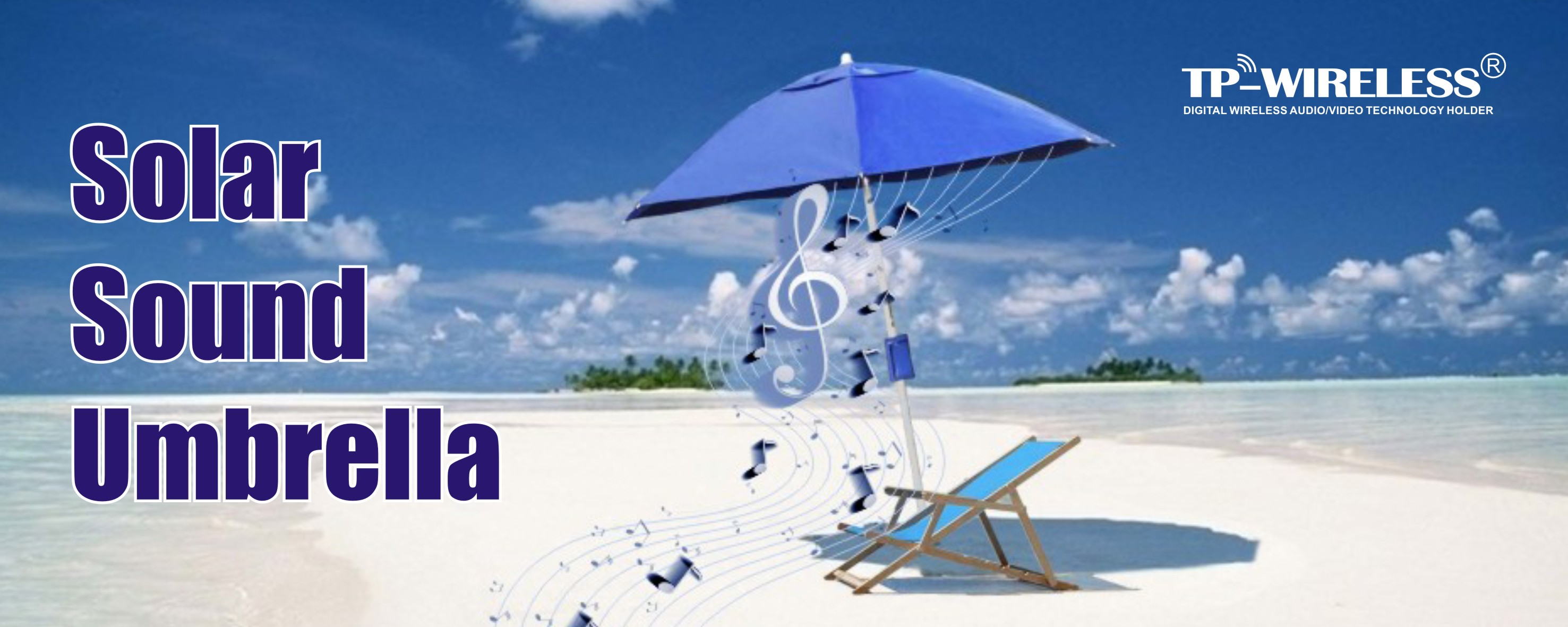Smart Solar Power Umbrella Speaker System